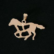 Pingente Semi Jóia Folheado A Ouro Cavalo