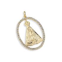 Medalha Imagem Nossa Senhora Aparecida Ouro Rommanel
