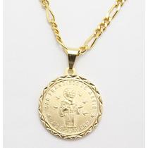 Kit Medalha São Francisco De Assis + Cj Pulseira E Corrente