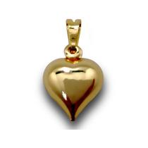 Pingente Coração Lindo Folheado A Ouro 18k