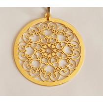 Mandala Personalizada Coração De Ouro 18k
