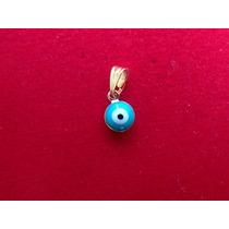 Pingente Olho Grego Banhado A Ouro 18 K P/ Pulseira Ou Colar