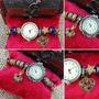 Relógios Estilo Vivara Marroquino Ouro Velho Com Berloques