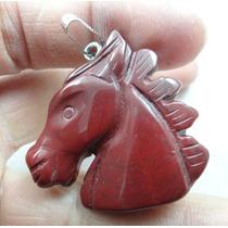 Pingente Cavalo 20,1gr Esculpido Em Cornalina Natural J1696