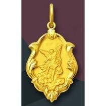 Medalha São Miguel Arcanjo Em Ouro 18k 0,5 Gr - Promoção