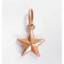 Feliz Jóias - Estrela Em Gracioso Pingente De Ouro