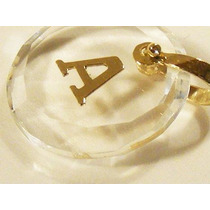Monreale Lindo Pingente Em Cristal Com Letra Em Ouro 18k