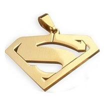 Pingente Super Man Em Ouro 18k 1,5gr