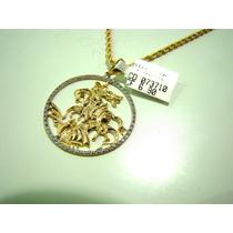 Medalha São Jorge Joia Ouro 18k/759 Certificado Mp 12 X
