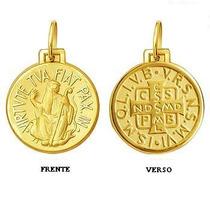Leão Jóias Pingente Medalha São Bento Ouro 18k Pequeno