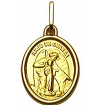 Nelcy Joias Ecia Pingente Medalha Oval Anjo Ouro 18k