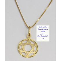 Pingente Estrela De Davi Ouro Amarelo 18k