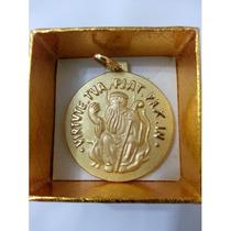 Medalha São Bento Em Ouro 18k 8gr Grande - Com Certificado