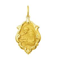 Medalha São Francisco Em Ouro 18k 2,5 Cm Com Certificado