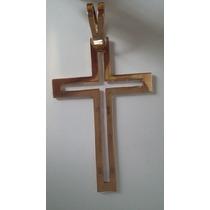 Medalha Cruz Em Ouro 18k 750