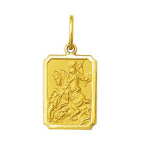 Pingente Medalha São Jorge 2cm Ouro 18k