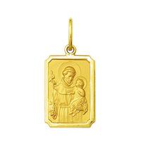 Pingente Medalha Santo Antônio Ouro 18k Pequeno