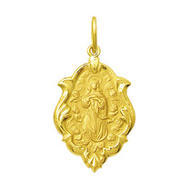 Medalha Nossa Senhora Conceição Ouro 18k 1,5 Cm Certificado