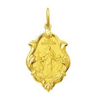 Medalha Nossa Senhora Desatadora De Nós Ouro 18k 1,5 Cm