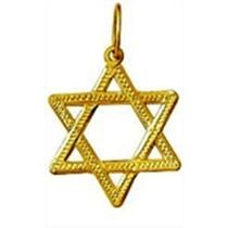 Estrela 6 Pts Davi Salomao Hexagrama Pingente Ouro 18k 1.7cm