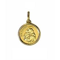 Pingente Medalha Santo Antonio Ouro 18k