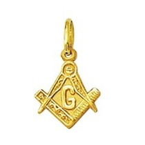 Leão Jóias Pingente Medalha Maçon Ouro 18k 1 Cm Pequeno