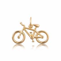 Pingente Bicicleta Atleta Cicloista Ouro18k Marcojoias