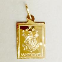 Pingente Corinthians Ouro 18k 750 Feminino Masculino E Hino
