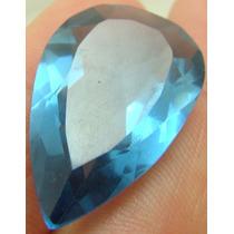 12.5 Cts Pedra Em Turmalina Indicolita Azul Gota Vvs