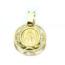 Pingente De Nossa Senhora Da Medalha Milagrosa Em Ouro- D139