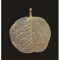 Biojóia - Pingente Prata E Ouro - Folha Verdadeira