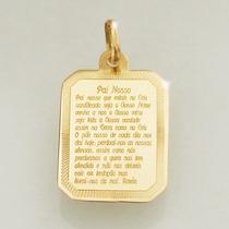 Pingente Oração Pai Nosso Ouro 18k 750 Feminino Masculino