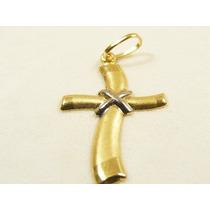 Monreale Lindo Crucifixo Cruz Em Ouro18k Maciço E Moderno