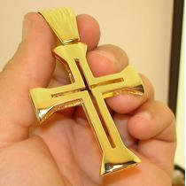 Crucifixo Centurião Roma Antiga Ouro Banhado 18k Original