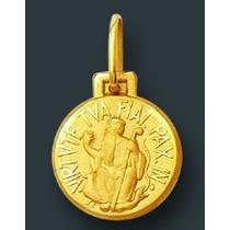 Medalha Pingente Em Ouro 18k São Bento 1,0 Gr