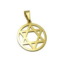 Pingente Estrela De Davi Em Ouro 18k 3 Gramas