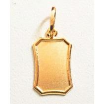 Pingente Placa Em Ouro 18k/750 - Decolar Joias