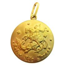 Medalha São Jorge Em Ouro 18k/750 - 2.85gramas Decolar Joias