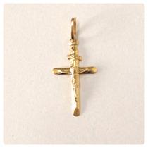 Crucifixo Ping Cruz Ouro Amarelo 18k Masculino Certificado