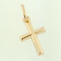 Pingente Crucifixo Frente Verso Cruz Em Ouro 18k Fret Gts
