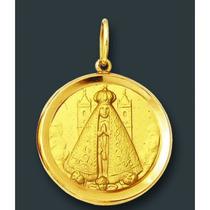 Medalhas Católicas Redonda Em Ouro 18k 2 Gr Vários Santos