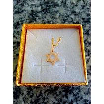 Leão Jóias Estrela De Davi Em Ouro 18k 750 Com Certificado