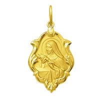 Medalha Santa Rita De Cassia Ouro 18k 2,5 Cm Com Certificado