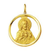 Medalha Coração De Jesus Ouro 18k 2,1 - Com Certificado