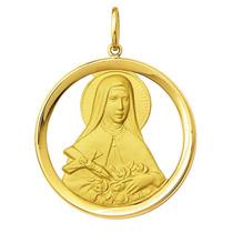 Medalha Sta Teresinha Ouro 18k 2,1gr - Com Certificado