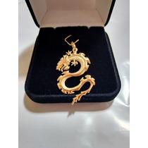 Pingente Dragão 4 Cm De Ouro 18k 750 Com Certificado