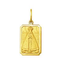 Pingente Medalha Nossa Senhora Aparecida Ouro 18k Pequeno
