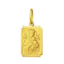 Pingente Medalha Nossa Senhora Perpetuo Socorro Ouro 18k