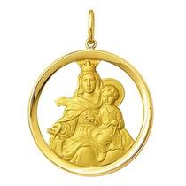 Medalha Nossa Senhora Do Carmo Ouro 18k A,k