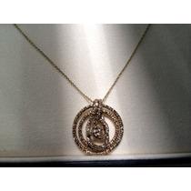 Corrente E Pingente De Ouro Nobre 18k Com Diamante H.stern